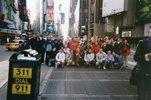 Celá třída Au-Pair školy na Times Square